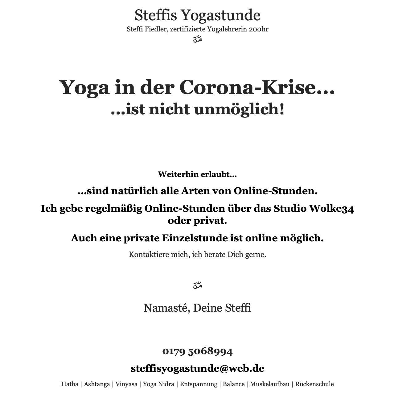 Yoga Corona Augsburg